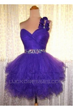 Short/Mini One-Shoulder Beaded Prom Evening Cocktail Dresses ED011440