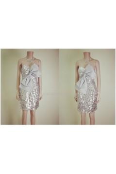 Sequins Sweetheart Short Prom Evening Formal Dresses ED011459