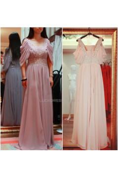 A-Line Beaded Long Chiffon Prom Evening Formal Dresses ED011465