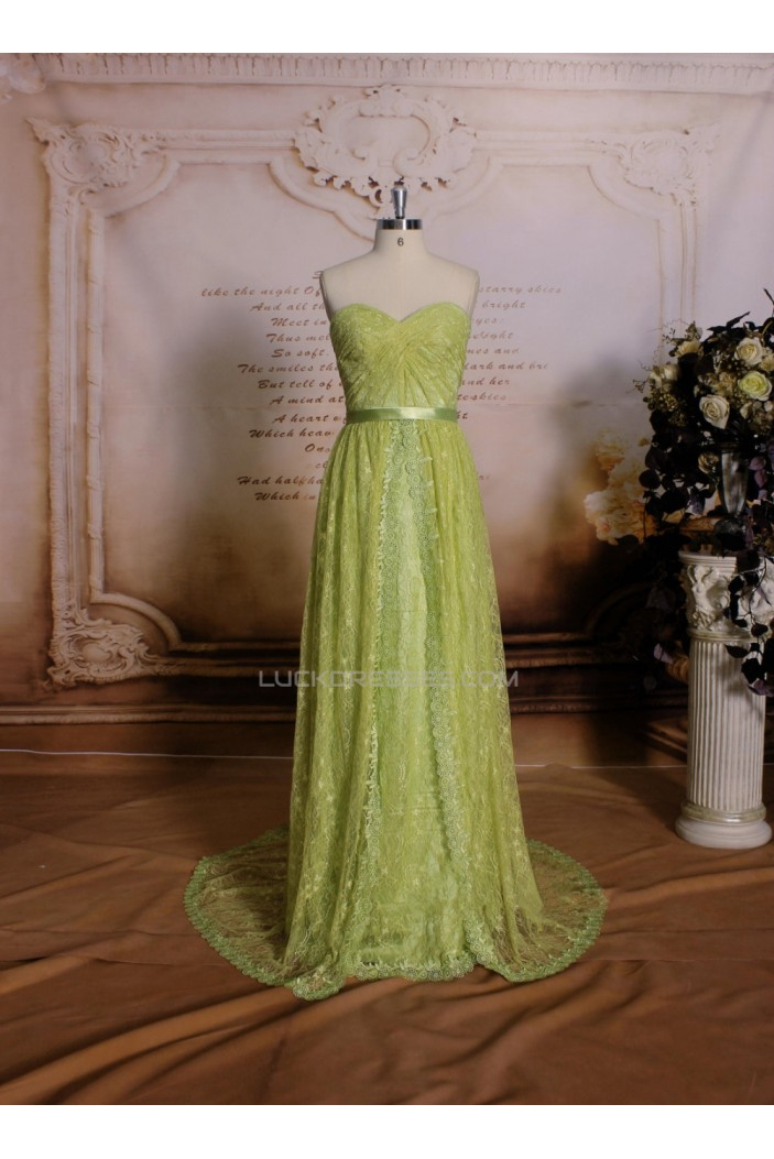 Sheath/Column Sweetheart Long Lace Prom Evening Formal Dresses ED011468