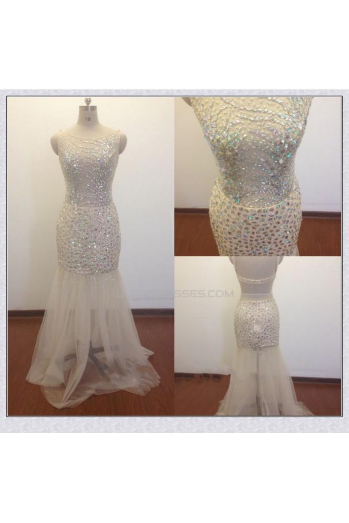 Trumpet/Mermaid Beaded Long Prom Evening Formal Dresses ED011472