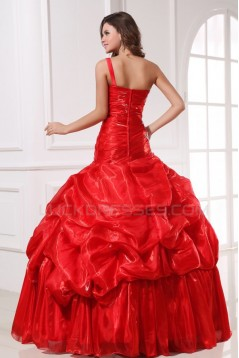 Ball Gown Long Red Prom Evening Formal Party Dresses ED010148