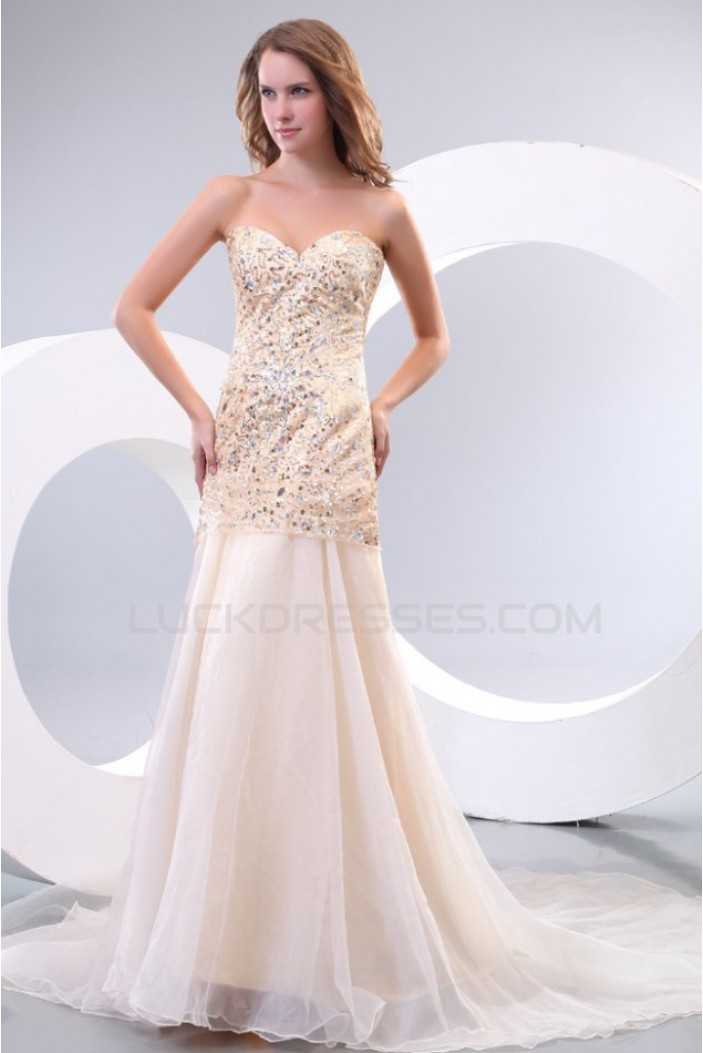 A-Line Sweetheart Beaded Long Prom Evening Formal Party Dresses ED010149