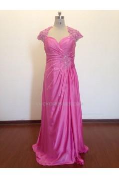 Sheath/Column Beaded Applique Long Prom Evening Formal Dresses ED011505