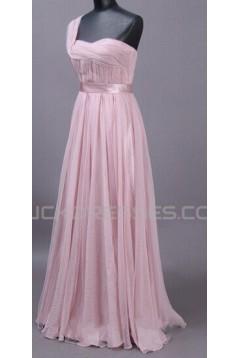 A-Line One-Shoulder Long Prom Evening Formal Dresses ED011506