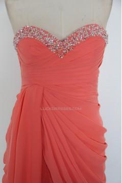 A-Line Sweetheart Beaded Short Chiffon Prom Evening Formal Dresses ED011523