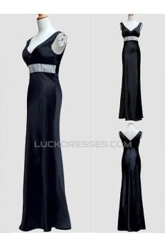 Trumpet/Mermaid V-Neck Long Blue Prom Evening Formal Dresses ED011527