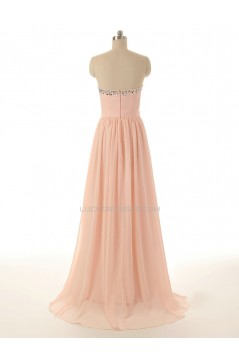 A-Line Beaded Long Chiffon Prom Evening Formal Dresses ED011540