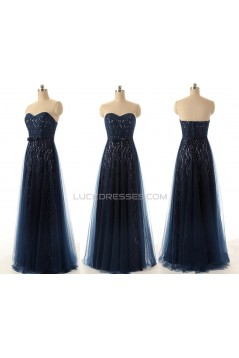 A-Line Sweetheart Long Lace and Tulle Prom Evening Formal Dresses ED011549