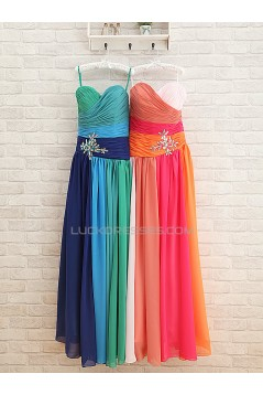 A-Line Sweetheart Long Chiffon Prom Evening Formal Dresses ED011564