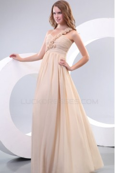 One-Shoulder Long Chiffon Prom Evening Formal Party Dresses/Bridesmaid Dresses ED010158