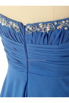 A-Line Sweetheart Beaded Long Chiffon Prom Evening Formal Dresses ED011582
