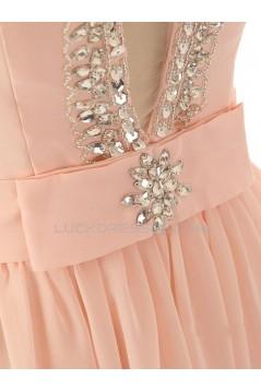 Elegant A-Line Beaded Long Chiffon Prom Evening Formal Dresses ED011591