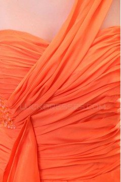 One-Shoulder Long Chiffon Prom Evening Formal Party Dresses ED010160