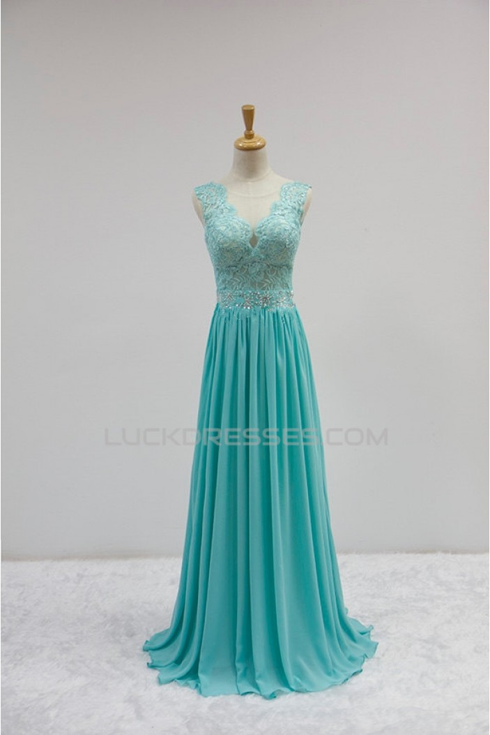 A-Line Beaded Long Prom Evening Formal Dresses ED011610