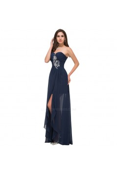 A-Line Sweetheart Beaded Split-Front Chiffon Prom Evening Formal Dresses ED011615