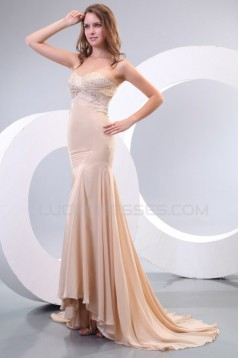Trumpet/Mermaid Sweetheart Beaded Lace and Chiffon Long Prom Evening Formal Party Dresses ED010162