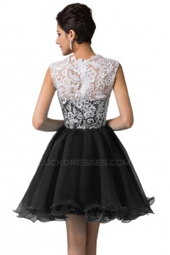 A-Line Short Lace Prom Evening Formal Dresses ED011622