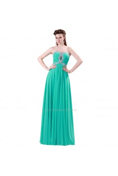 A-Line Sweetheart Beaded Long Chiffon Prom Evening Formal Dresses ED011623