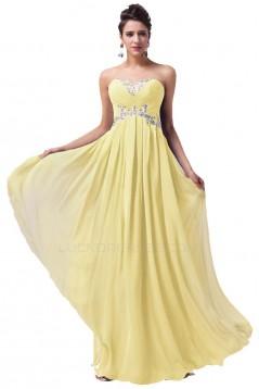 A-Line Sweetheart Beaded Long Chiffon Prom Evening Formal Dresses ED011626