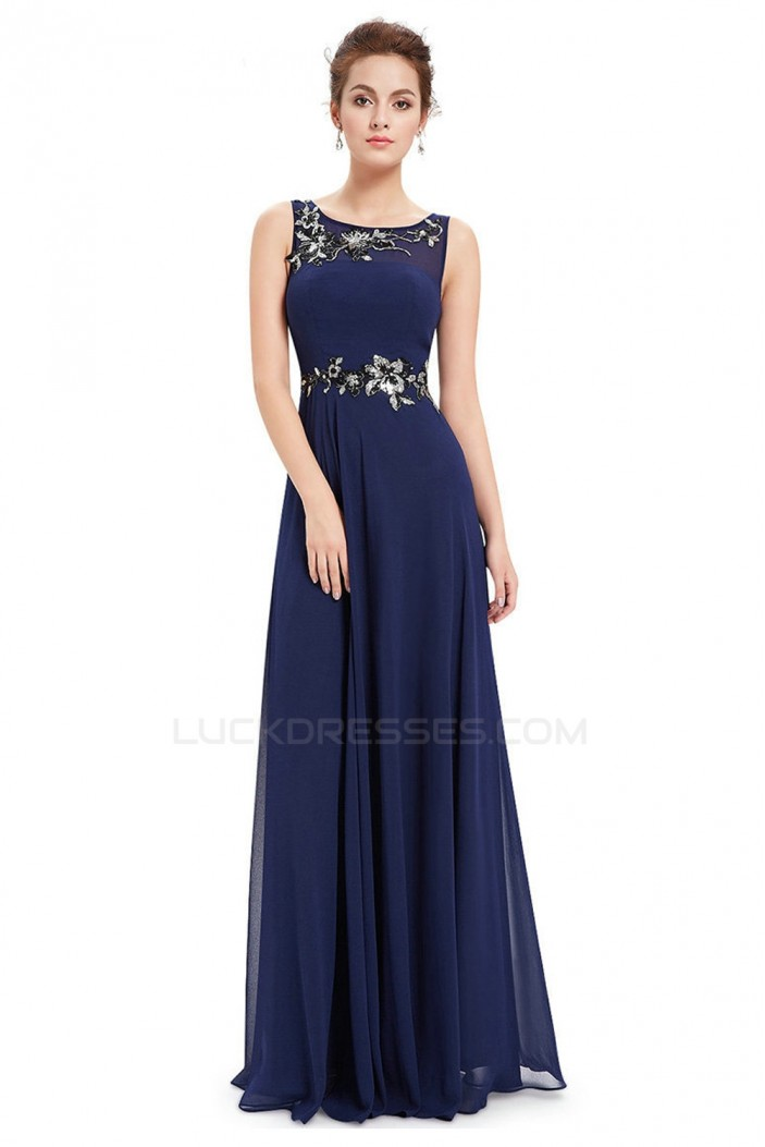 A-Line Long Chiffon Prom Evening Formal Dresses ED011636