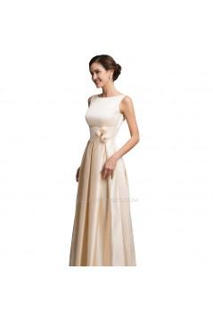 A-Line Bateau Long Prom Evening Formal Bridesmaid Dresses ED011649