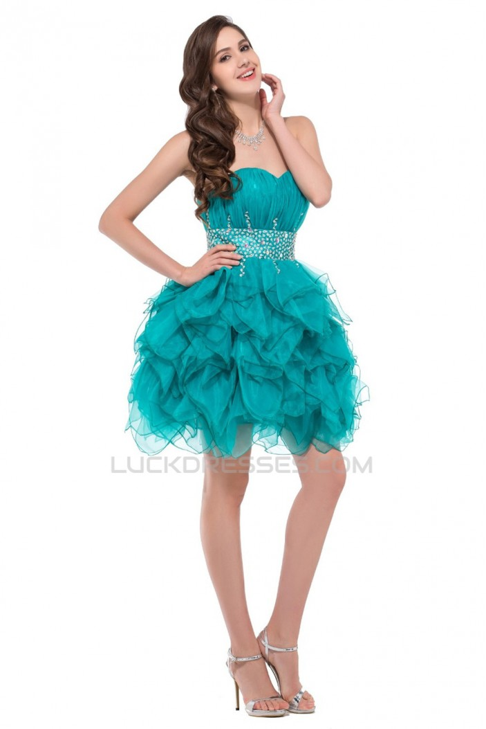 Beaded Sweetheart Short Prom Evening Cocktail Dresses ED011664