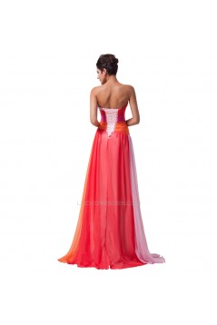 A-Line Sweetheart Long Chiffon Prom Evening Formal Dresses ED011673
