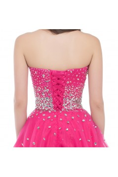 A-Line Sweetheart Beaded Short Prom Evening Cocktail Dresses ED011674