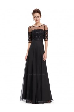 A-Line Half Sleeve Lace and Chiffon Prom Evening Formal Mother of the Bride Dresses ED011680