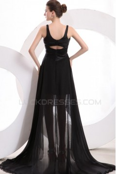 High Low Black Chiffon Prom Evening Formal Party Dresses ED010176