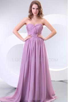 A-Line Sweetheart Long Chiffon Prom Evening Formal Party Dresses ED010180