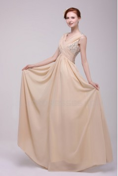 Beaded Long Chiffon Prom Evening Formal Party Dresses ED010195