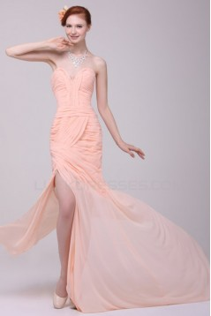 Long Chiffon Pleated Prom Evening Formal Party Dresses ED010198