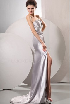 Long Silver Beaded Prom Evening Formal Party Dresses ED010206