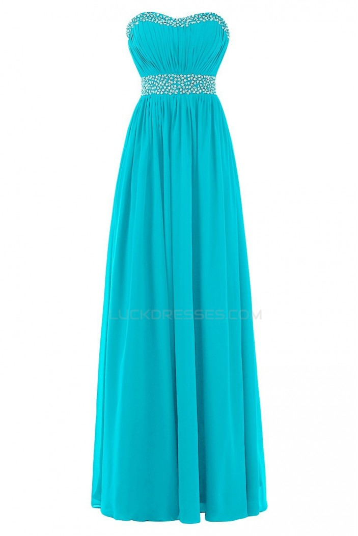 Long Chiffon Beaded Prom Evening Formal Party Dresses ED010212