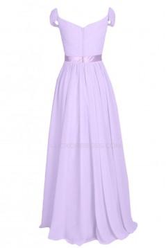 Cap Sleeve Long Chiffon Prom Evening Formal Party Dresses ED010215