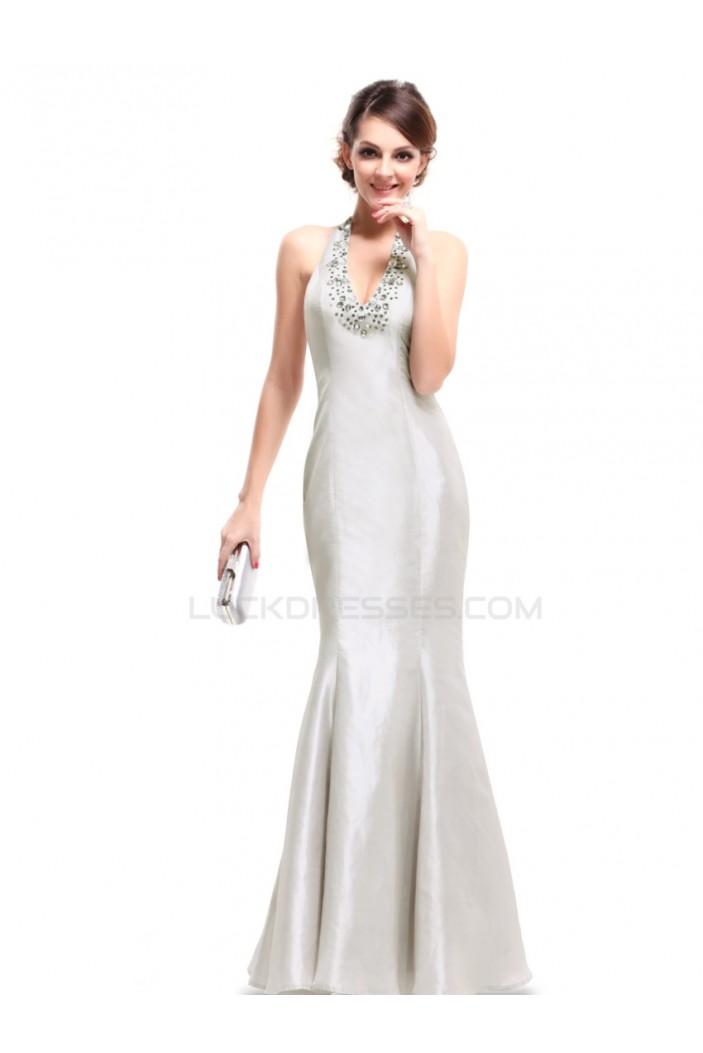 Trumpet/Mermaid Halter Beaded Long Prom Evening Formal Party Dresses ED010217