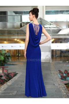 Long Blue Chiffon Prom Evening Formal Party Dresses ED010222