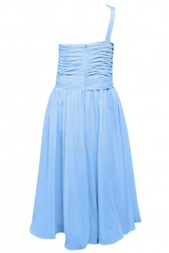 A-Line One-Shoulder Short Blue Chiffon Prom Evening Formal Party Dresses ED010228