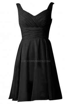 A-Line Short Black Prom Evening Formal Party Dresses ED010229