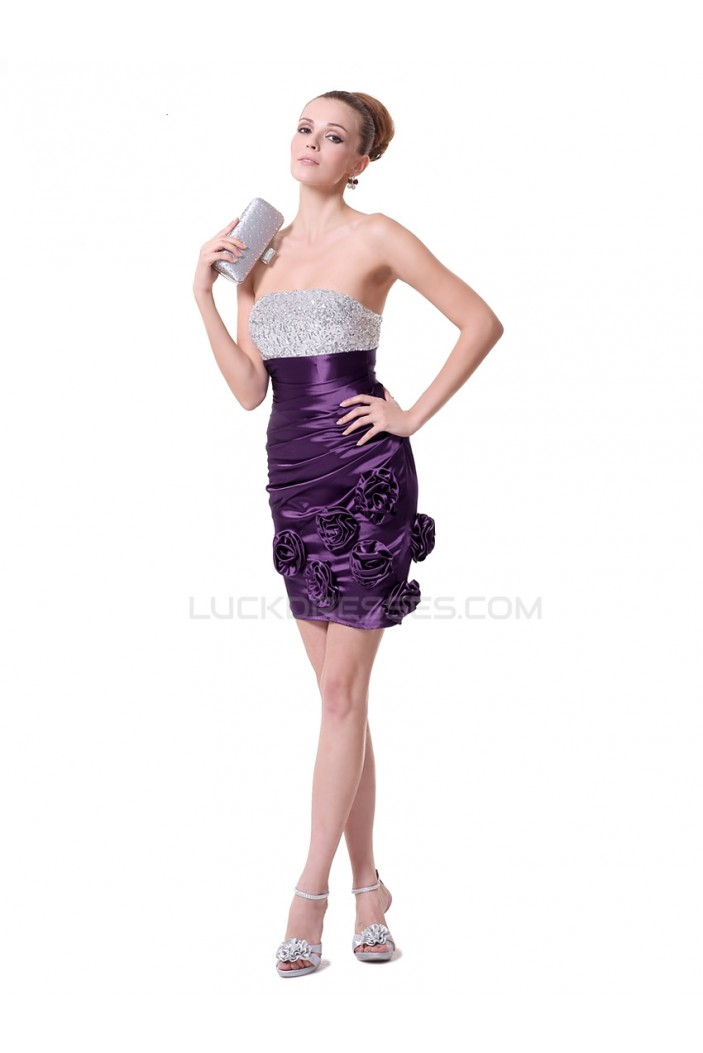 Strapless Short Prom Evening Formal Party Dresses ED010231