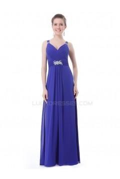 Long Blue Chiffon Prom Evening Formal Party Dresses ED010238