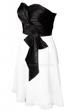 Black White Sweetheart Short Prom Evening Formal Party Dresses ED010245