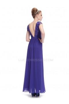 Long Chiffon Short Sleeve Prom Evening Formal Party Dresses ED010270