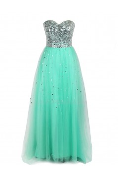 A-Line Sweetheart Sequin Long Prom Evening Formal Party Dresses ED010271