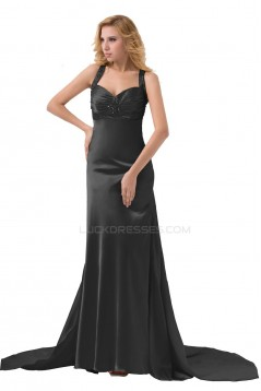 Beaded Long Black Prom Evening Formal Party Dresses ED010275
