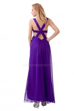 Long Purple Chiffon Prom Evening Formal Party Dresses ED010279