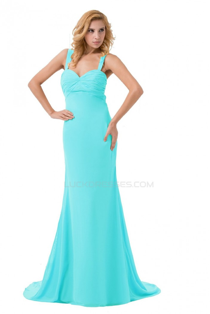 Trumpet/Mermaid Long Chiffon Prom Evening Formal Party Dresses ED010281