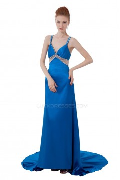 Beaded Long Blue Prom Evening Formal Party Dresses ED010286